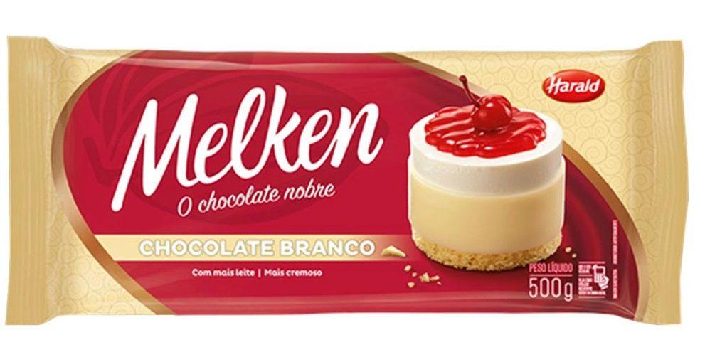 Chocolate Em Barra Melken Branco 500g - Harald  - Santa Bella