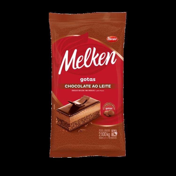 Chocolate Em Gotas Melken Ao Leite  2,1kg  - Harald  - Santa Bella