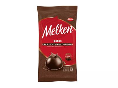 Chocolate Em Gotas Melken Meio Amargo 2,1kg - Harald  - Santa Bella