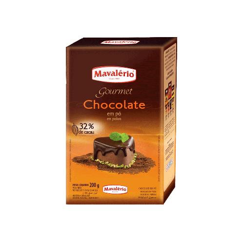 CHOCOLATE EM PÓ 32% CACAU 200G - MAVALÉRIO  - Santa Bella