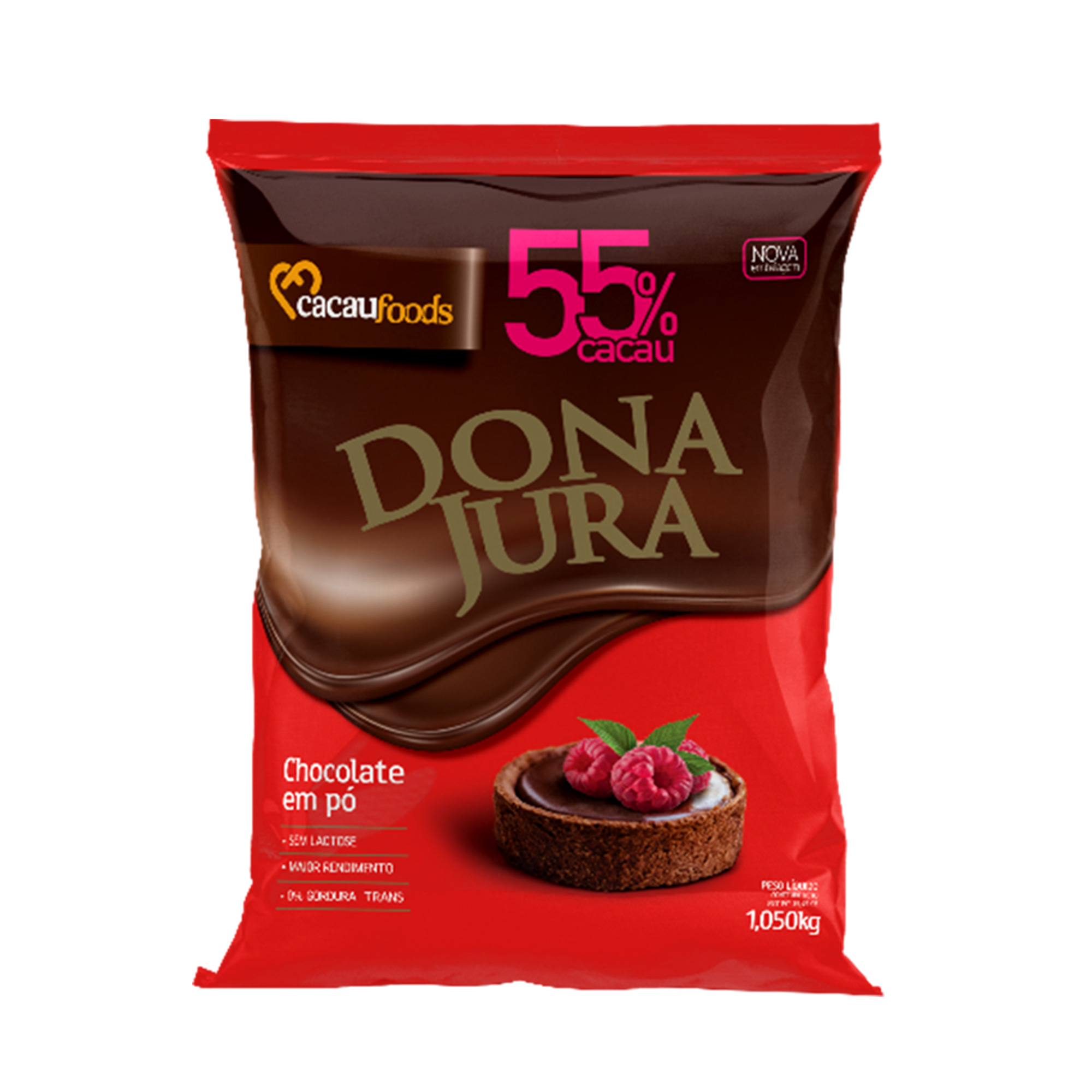 Chocolate em Pó 55% Cacau - Dona Jura 1,005KG  - Santa Bella