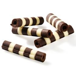 CHOCOLATE PENCILS - ROLLS DARK AND WHITE -700G- CALLEBAUT  - Santa Bella