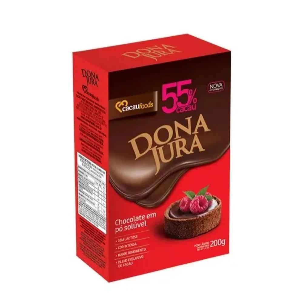 CHOCOLATE PO SOLUVEL 55% 200GR - DONA JURA  - Santa Bella