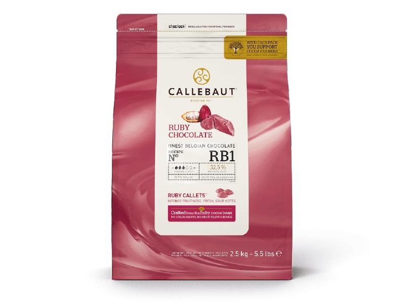 CHOCOLATE RUBY GOTAS -2,5KG - CALLEBAUT  - Santa Bella