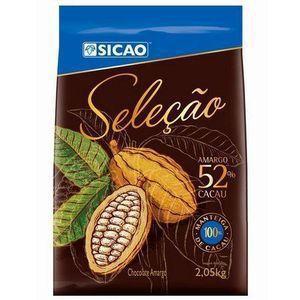 CHOCOLATE SICAO SELEÇÃO MEIO AMARGO 52% EM GOTAS 2,05KG  - Santa Bella