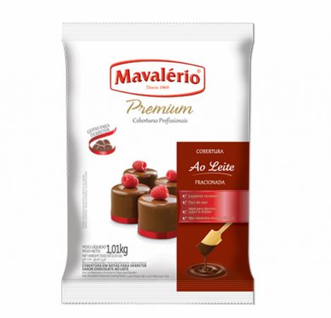 COBERTURA PREMIUM AO LEITE GOTAS 1,01KG - MAVALÉRIO  - Santa Bella