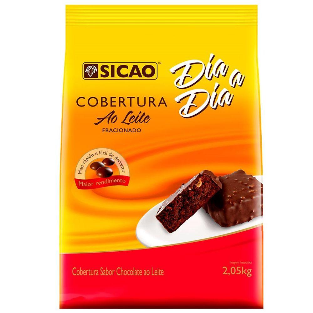 COBERTURA SICAO DIA A DIA  AO LEITE GOTAS 2,05KG  - Santa Bella