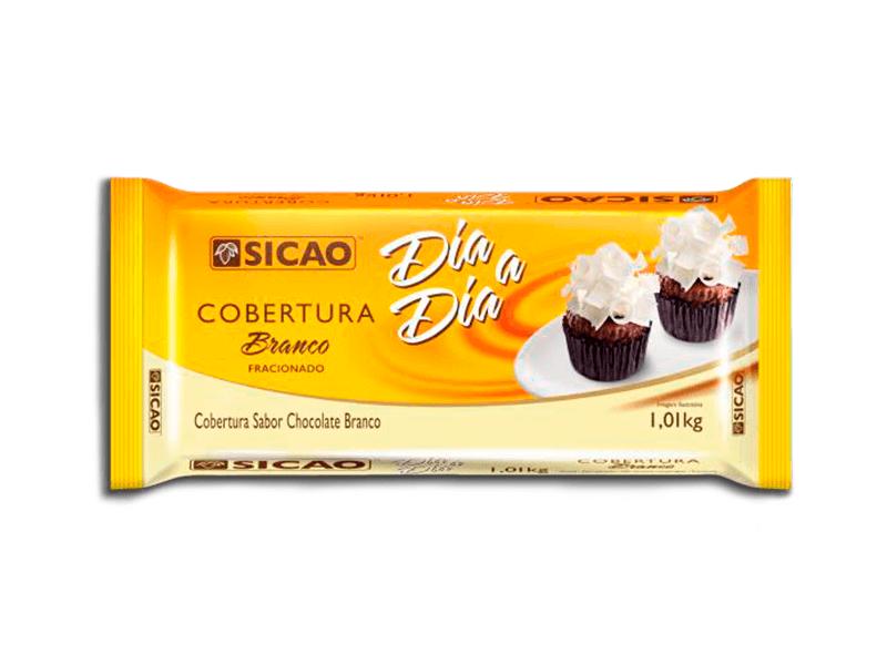 COBERTURA SICAO DIA A DIA BRANCO EM BARRA 1,01KG  - Santa Bella