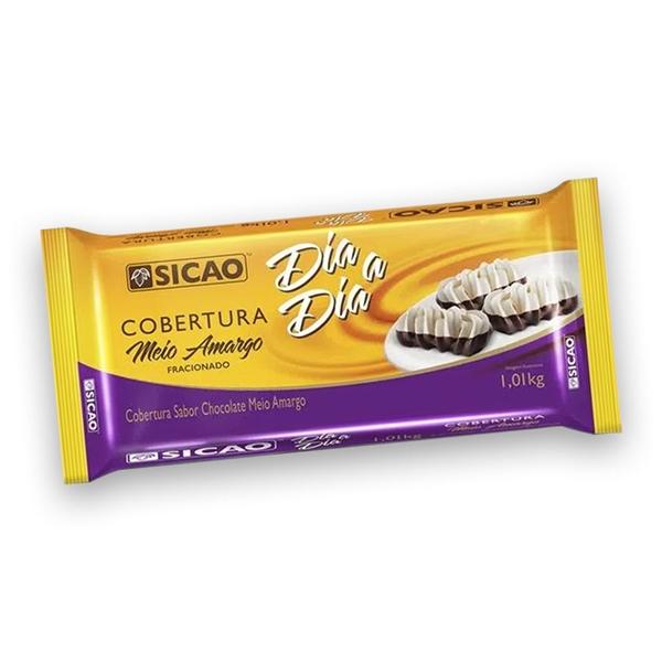 COBERTURA SICAO DIA A DIA MEIO AMARGO EM BARRA 1,01KG  - Santa Bella