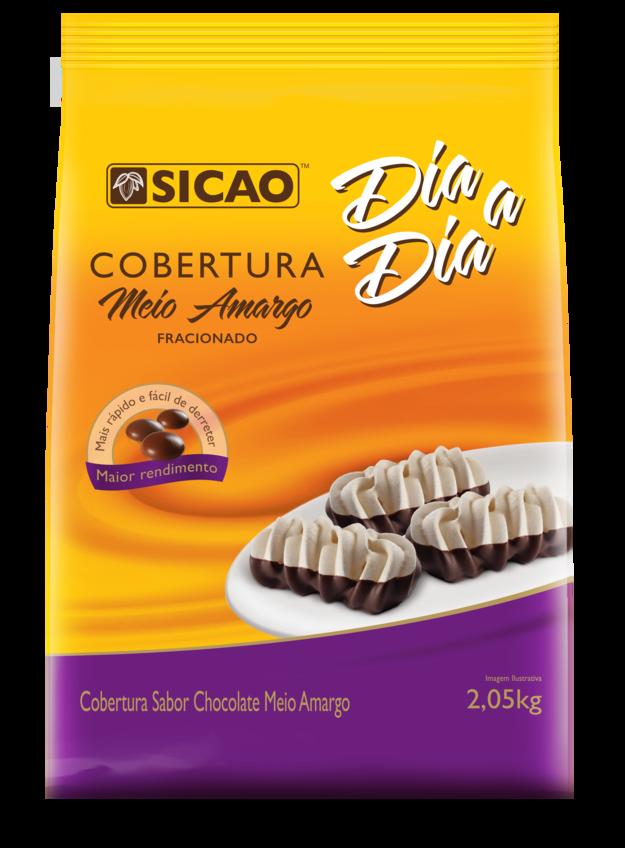 COBERTURA SICAO DIA A DIA MEIO AMARGO GOTAS 2,05KG  - Santa Bella