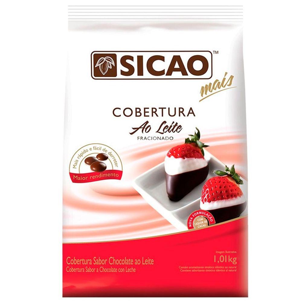 COBERTURA SICAO MAIS AO LEITE EM GOTAS 1,01KG  - Santa Bella