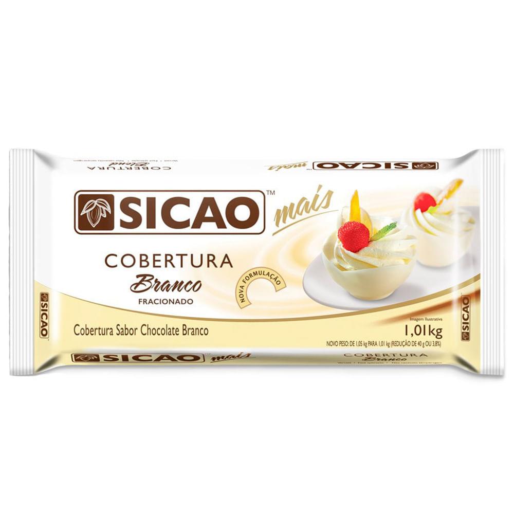 COBERTURA SICAO MAIS BRANCO EM BARRA 1,01KG  - Santa Bella