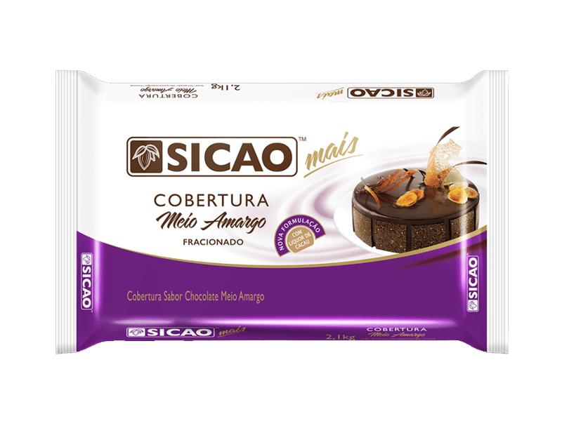 COBERTURA SICAO MAIS MEIO AMARGO EM BARRA 2,1KG  - Santa Bella