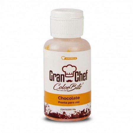 COLOR BITS CHOCOLATE - Manteiga de Cacau Colorida - AMARELO - 50G  - Santa Bella