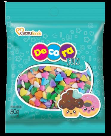 CONFEITO DECORA FUN LOVE 50G  - Santa Bella