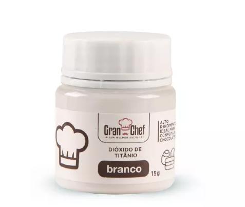 Corante em Po Gran Chef  - Dioxido de Titanio - Branco - 15g  - Santa Bella