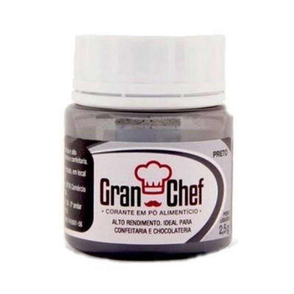 Corante em pó preto 2,5gr  para confeitaria em geral e Chocolate  - Santa Bella