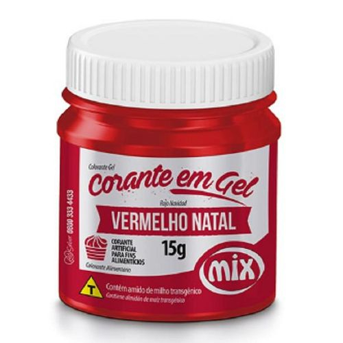CORANTE GEL 15G VERMELHO NATAL - MIX  - Santa Bella