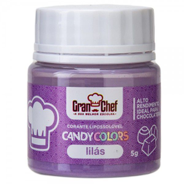 CORANTE LIPOSSOLUVEL - CANDY COLOR LILAS - 5GR  - Santa Bella