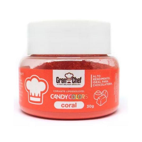 CORANTE LIPOSSOLUVEL - CANDY COLORS CORAL - 30G  - Santa Bella