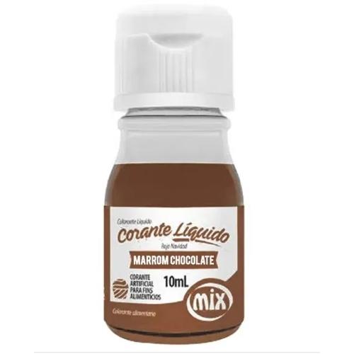 CORANTE LIQUIDO 10ML MARROM CHOCOLATE  - Santa Bella