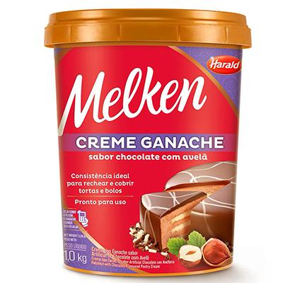 Creme Tipo Ganache Chocolate Avelã Melken 1kg  - Santa Bella