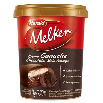 Creme Tipo Ganache Meio Amargo Harald 1kg  - Santa Bella
