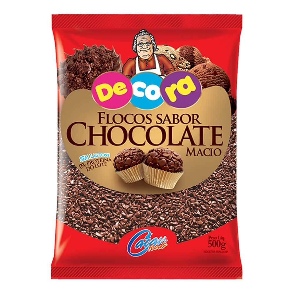 FLOCOS  MACIO SABOR CHOCOLATE DECORA 500G - CACAU FOODS  - Santa Bella