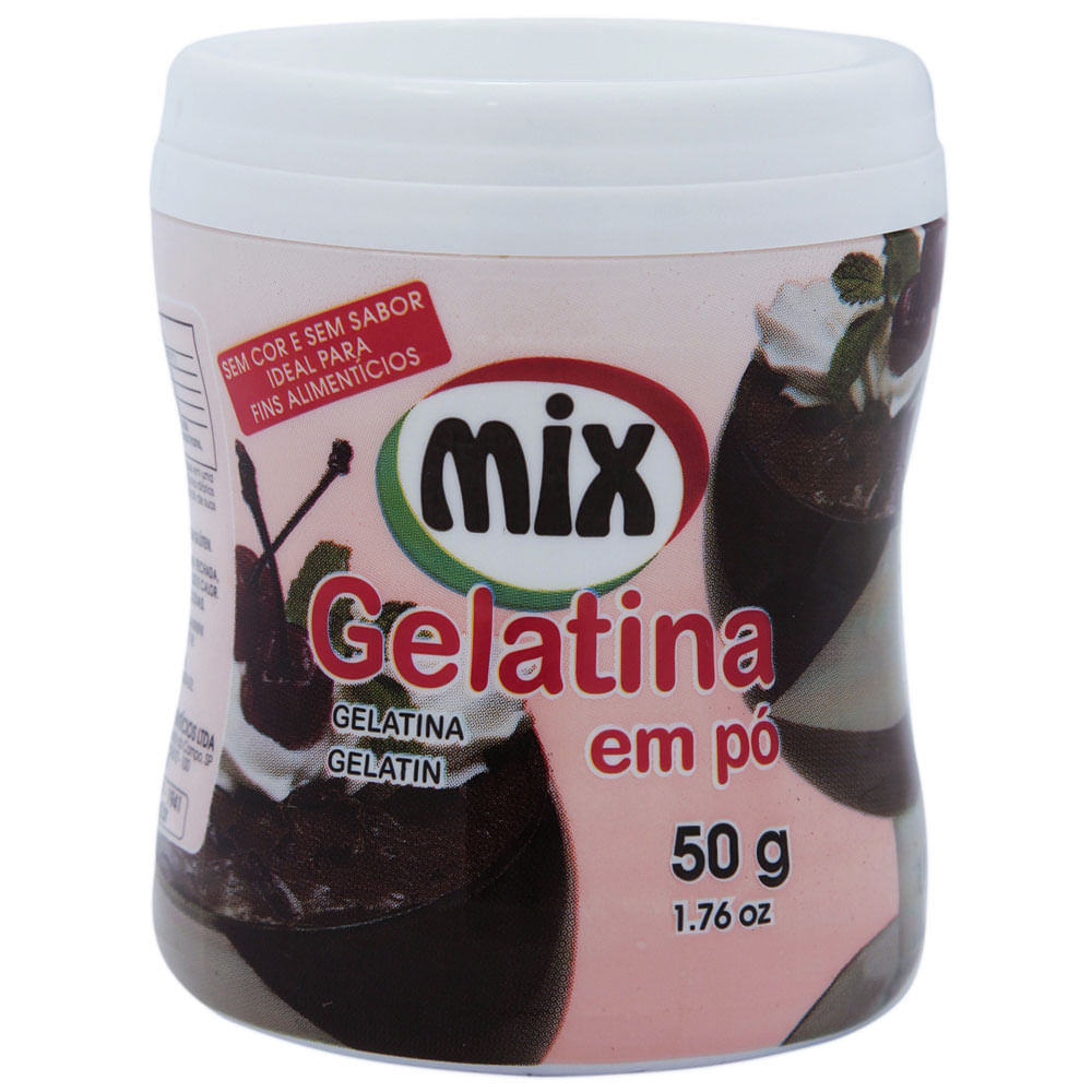 GELATINA SEM SABOR MIX 50G  - Santa Bella