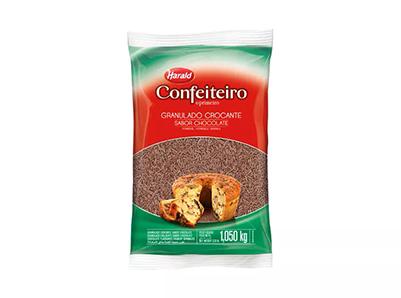 Granulado Crocante Escuro Confeiteiro 1,050kg - Harald  - Santa Bella