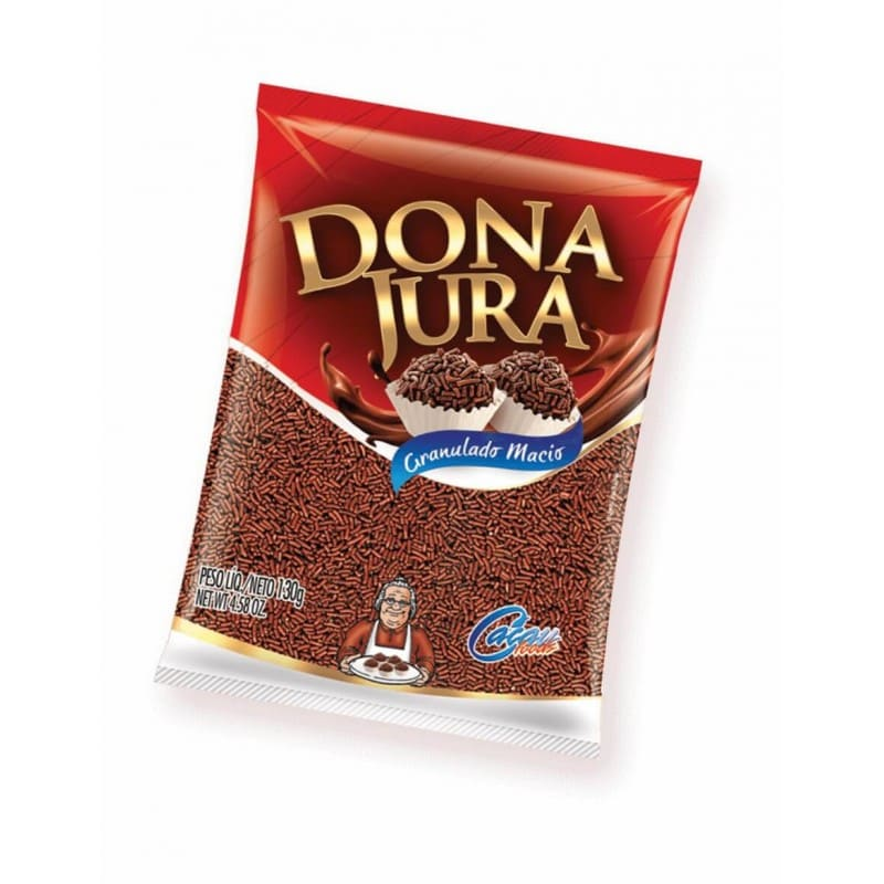 GRANULADO MACIO CHOCOLATE DONA JURO 130G - CACAU FOODS  - Santa Bella