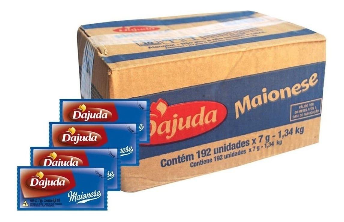 MAIONESE DAJUDA - SACHE 192 X 7GR  - Santa Bella