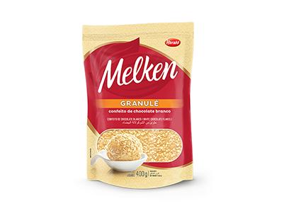 Melken Granule Chocolate Branco 400g - Harald  - Santa Bella
