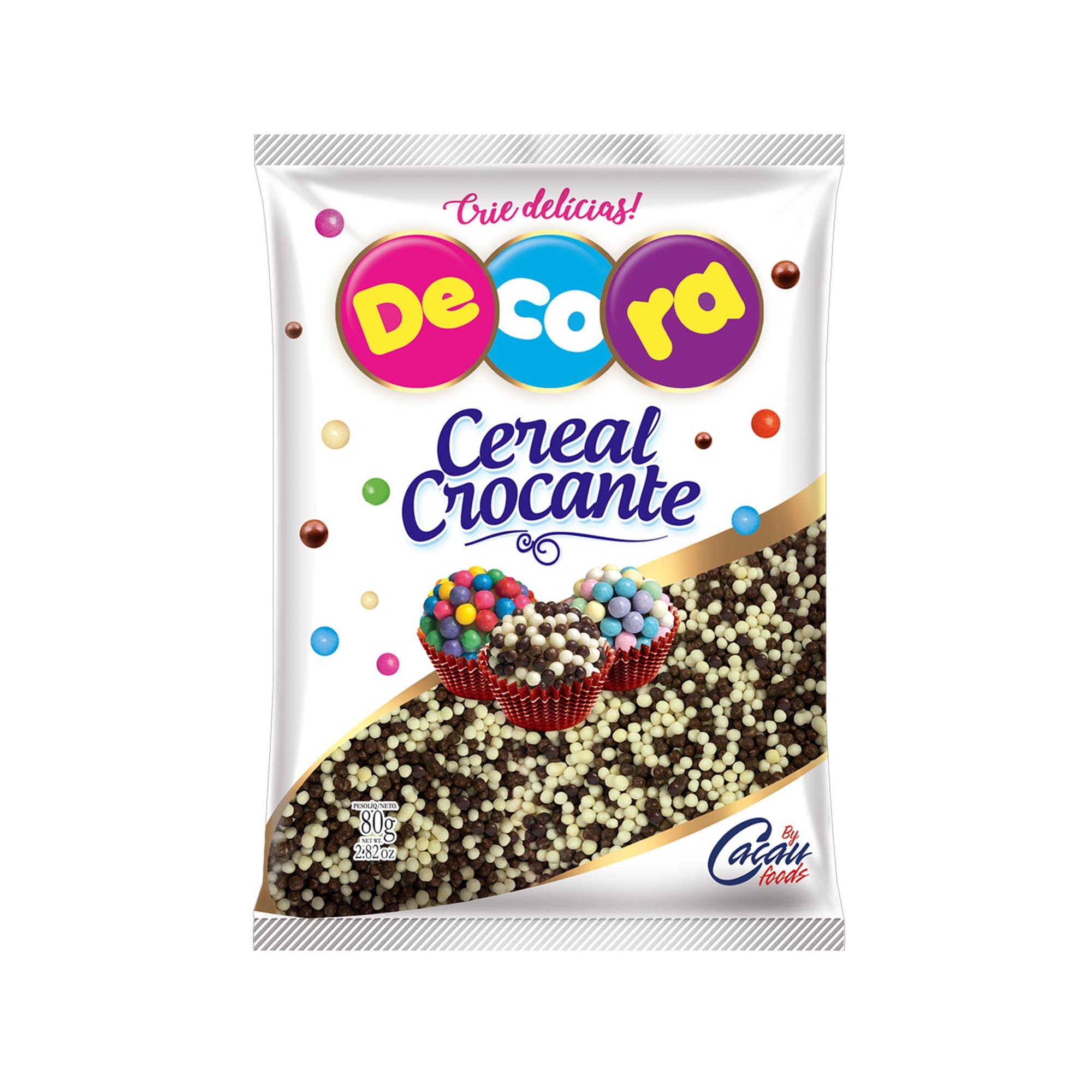 MICRO CEREAL CROCANTE BCO/PRETO 80GRS - CACAU FOODS  - Santa Bella