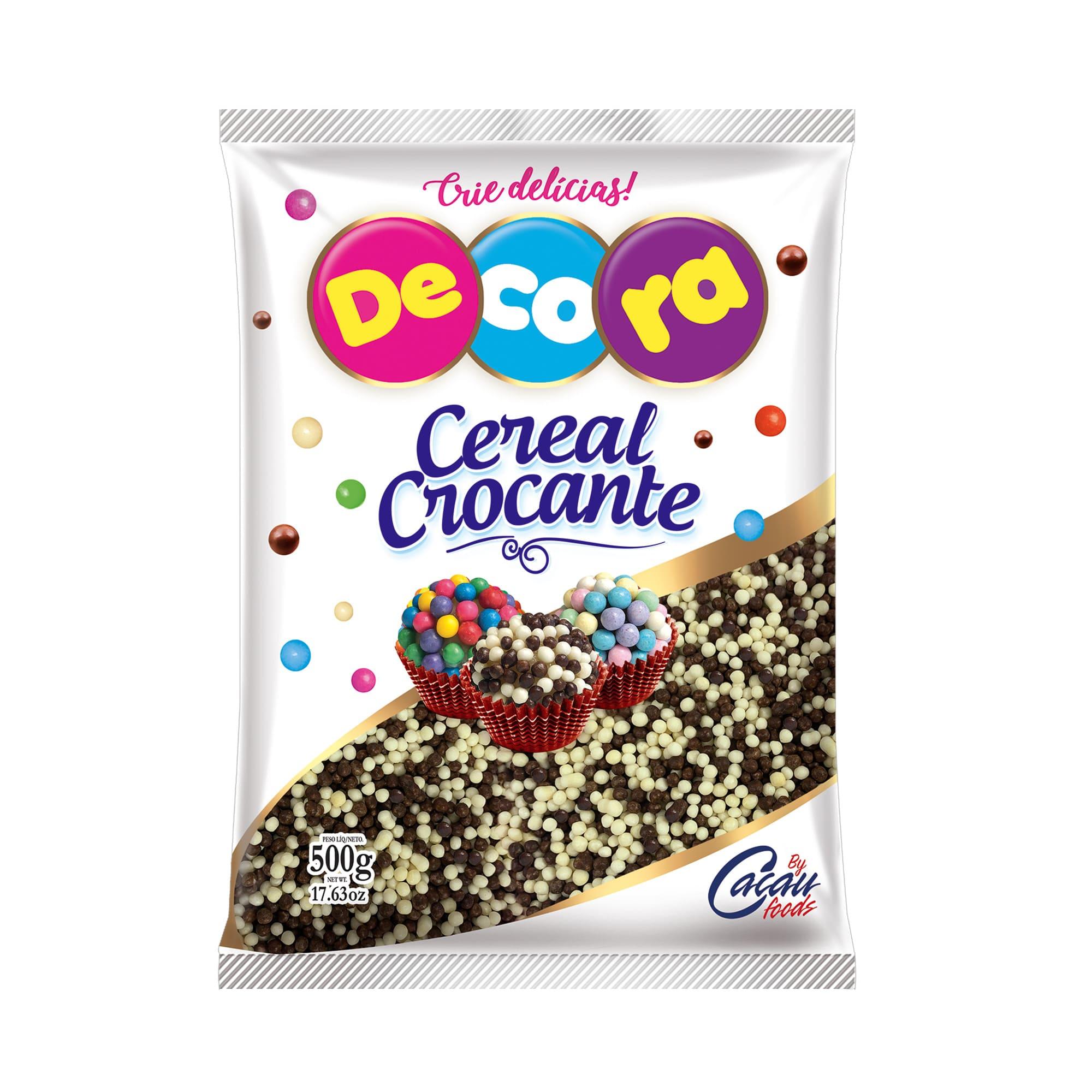 MICRO CEREAL CROCANTE BRANCO PRETO 500GR - CACAU FOODS  - Santa Bella
