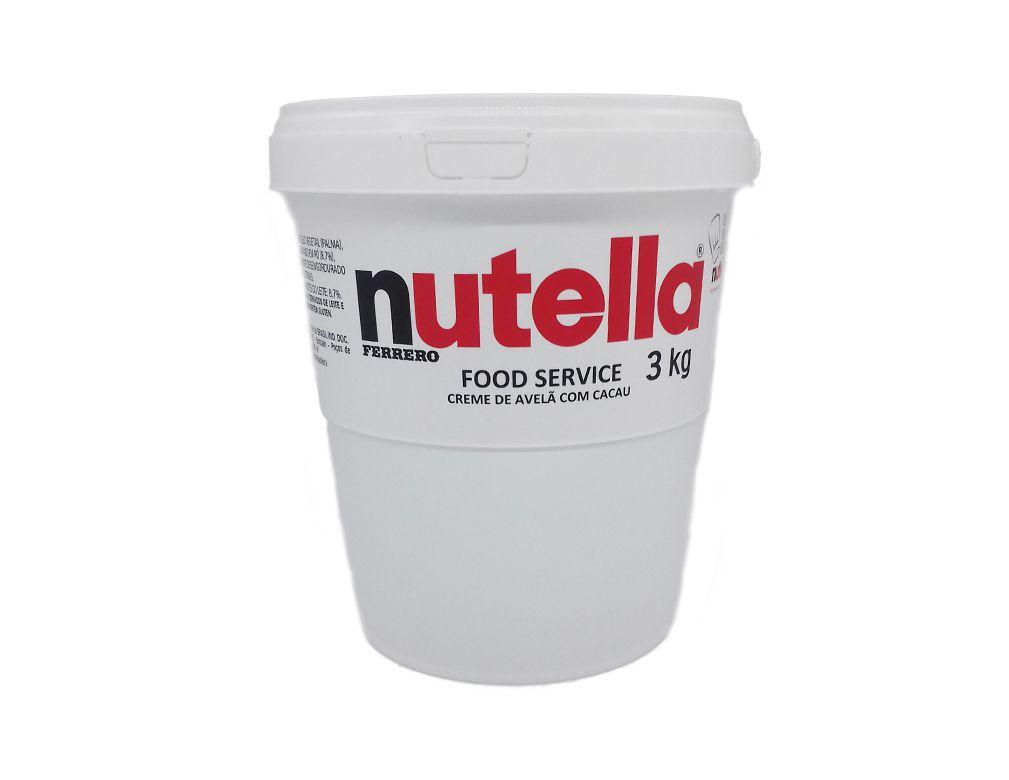 Creme de Avelã com Cacau Nutella 3kg - Ferrero - Balde  - Santa Bella