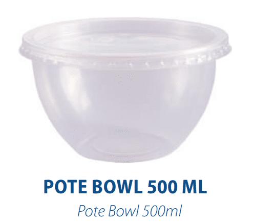 POTE BOWL 500ML C/ SOBRETAMPA - FREEZER E MICROONDAS  -  com 20 unidades  - Santa Bella