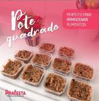 POTE QUADRADO COM TAMPA 150ML - FREEZER E MICROONDAS - com 20 unidades - PRAFESTA  - Santa Bella