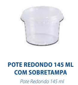 POTE REDONDO 145ML COM TAMPA - FREEZER E MICROONDAS  - com 24 unidades  - Santa Bella