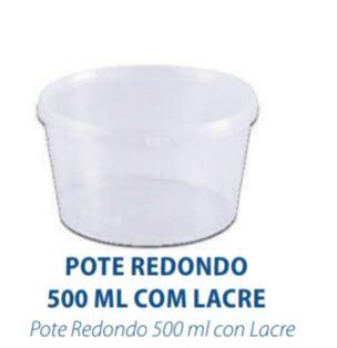 POTE REDONDO COM LACRE 500ML - FREEZER E MICROONDAS  - com 10 unidades - PRAFESTA  - Santa Bella