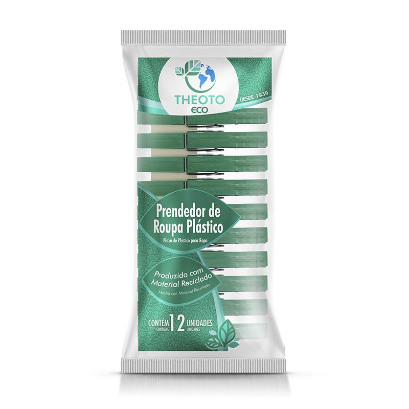 PRENDEDOR DE ROUPA PLASTICO C/12 UN - THEOTO  - Santa Bella