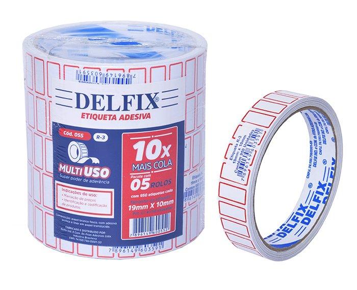 R3 ETIQUETA ADESIVA 19MMX10MMX10M 950un C/5RL - DELFIX  - Santa Bella