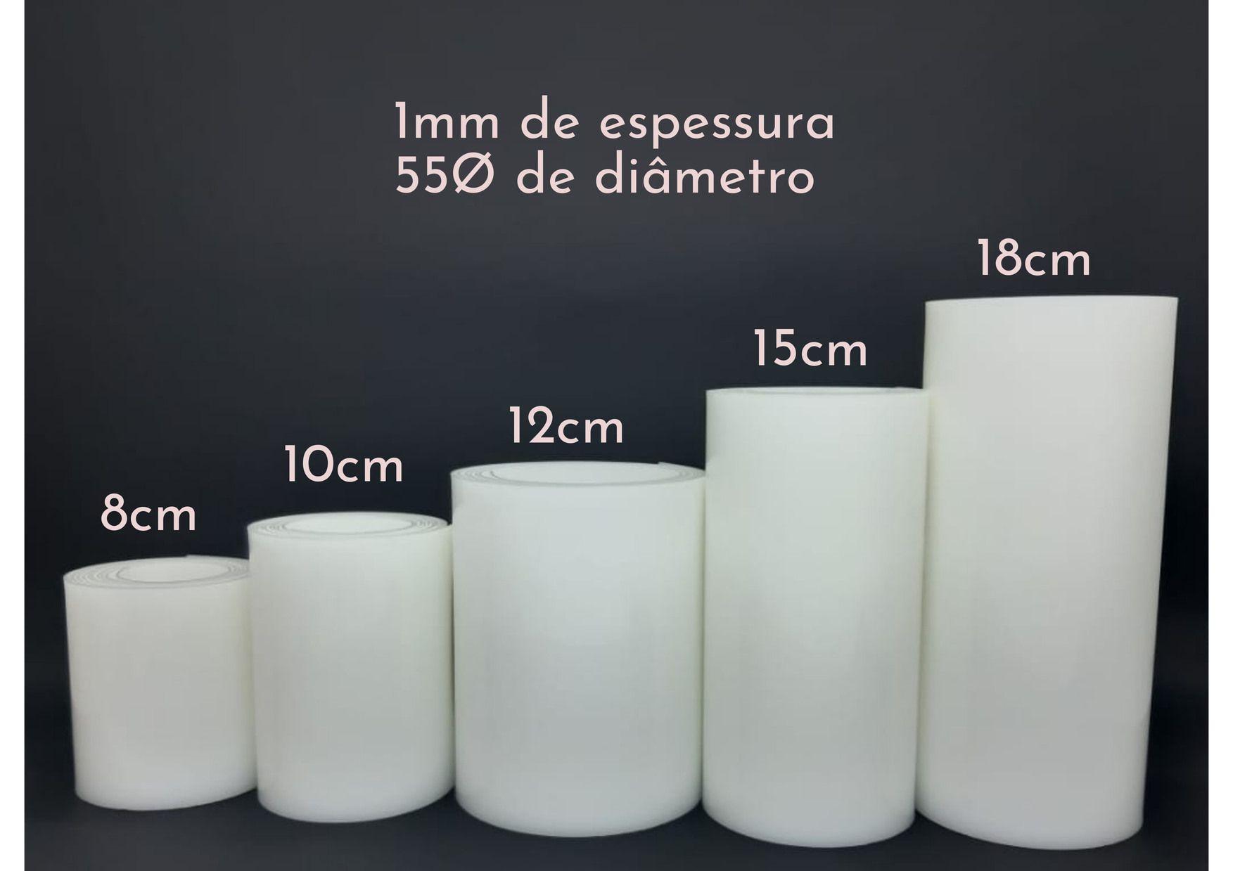 Tira de Polietileno (PEAD) para bolo 1MM X 8CM X Ø55CM  - Santa Bella