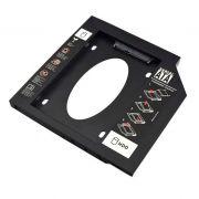 Adaptador Hdd|Sdd Multilaser Para Notebook, Baia 12.7mm, Cd|Dvd - Ga172