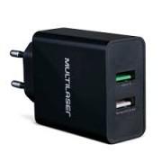 Carregador Concept 2 portas USB Quick Charger CB117