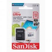 Cartão de Memória 32Gb 80MBS SanDisk Micro SD