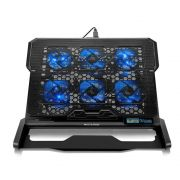 Cooler Notebook Com 6 Fans Led Azul Ac282