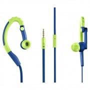 Fone De Ouvido Pulse Earhook Sport Azul-Verde