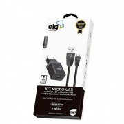 Kit Elg Carreg. Parede + Micro USB KT510WC
