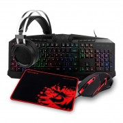 Kit Teclado, Mouse, Mousepad e Headset Redragon
